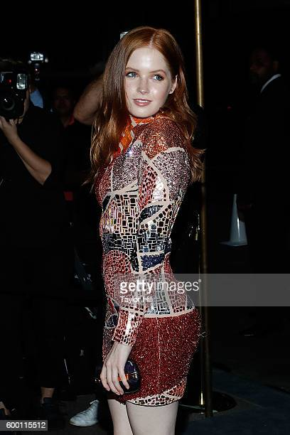 Ellie Bamber attends the Tom Ford Fall 2016 fashion show at The Four Seasons on September 7 2016 in New York City