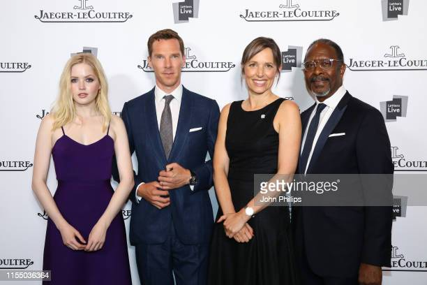 Ellie Bamber, Benedict Cumberbatch, Catherine Renier and Clarke Peters attend Jaeger-LeCoultre 'Art of Precision' Event with Letters Live at The...