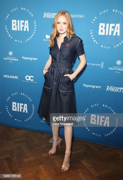 Ellie Bamber during the British Independent Film Award nominations photocall at The Everyman Cinema on October 31 2018 in London England