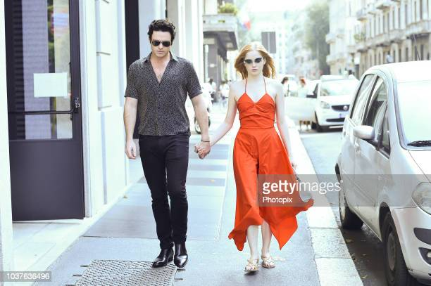 Ellie Bamber is seen during Milan Fashion Week Spring/Summer 2019 on September 22 2018 in Milan Italy