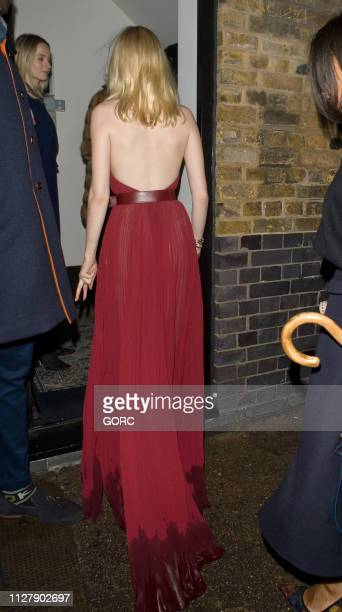 Ellie Bamber seen arriving at the Chiltern Firehouse on February 06 2019 in London England