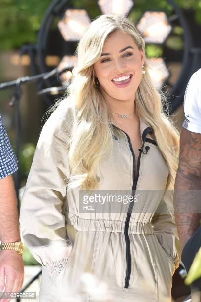 Ellie Brown filming for the ITV This Morning show on July 24 2019 in London England