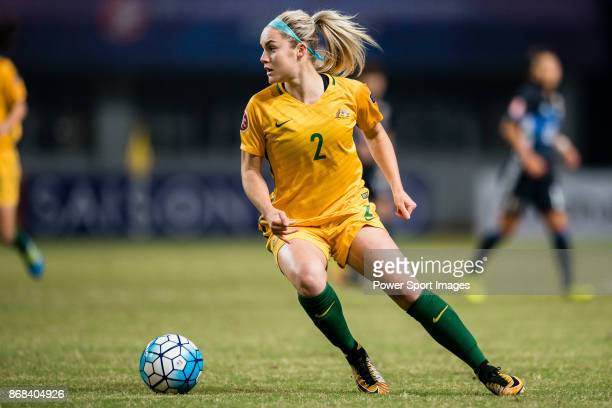 Ellie Carpenter of Australia in action during their AFC U19 Women'u2019s Championship 2017 Group Stage B match between Australia and Japan at...