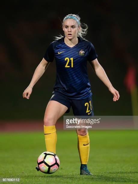 Ellie Carpenter of Australia Women during the Algarve Cup Women match between Australia v China PR at the Estádio Municipal de Albufeira on March 5...