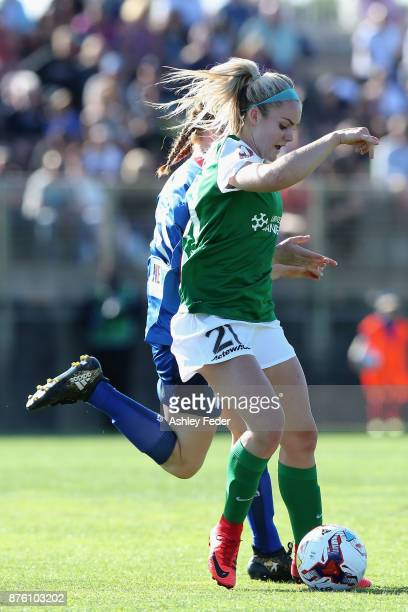 Ellie Carpenter of Canberra United in action during the round four WLeague match between Newcastle and Canberra on November 19 2017 in Newcastle...