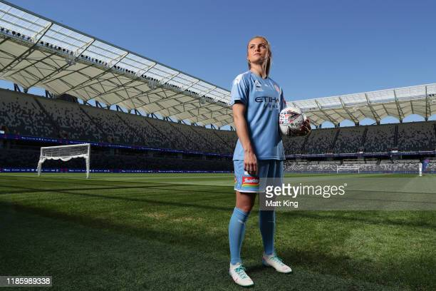 Ellie Carpenter of Melbourne City FC poses during the W-League 2019/20 Season Launch at Bankwest Stadium on November 07, 2019 in Sydney, Australia.