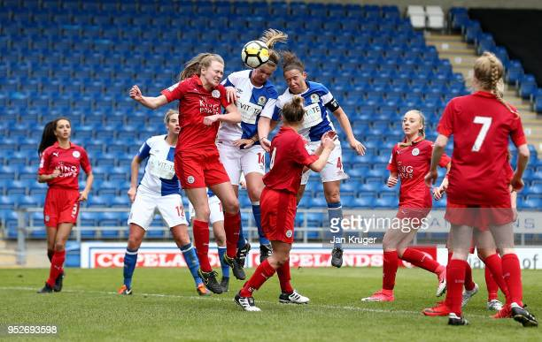Ellie Cook of Blackburn Rovers scores her sides second goal during the FA Women's Premier League Cup Final between Blackburn Rovers Ladies and...