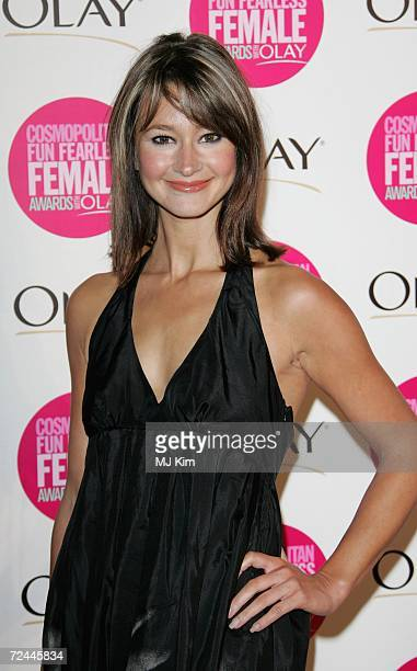 Ellie Crisell arrives at the Cosmopolitan Fun Fearless Female Awards with Olay held at the Bloomsbury Ballroom November 7 2006 in London England