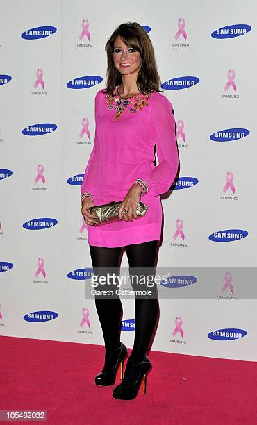 Ellie Crisell arrives at the Samsung Pink Ribbon Celebration at The Royal Exchange on October 14 2010 in London England