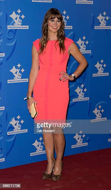 Ellie Crisell arriving at the National Lottery Awards at the London Television Centre in London