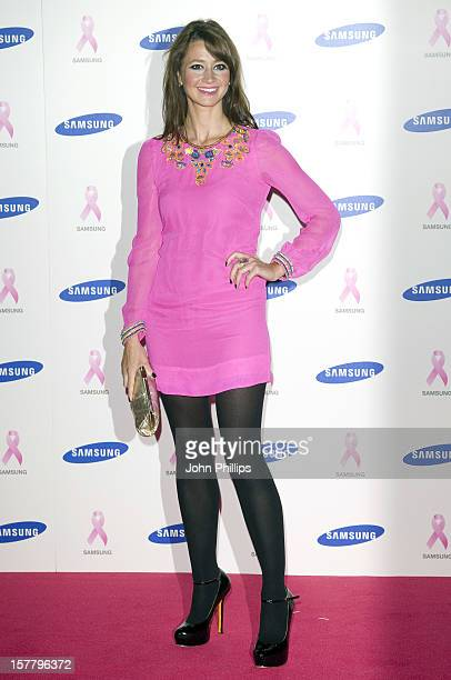 Ellie Crisell Arriving For The Samsung Pink Ribbon Celebration At The Royal Exchange Building In Central London