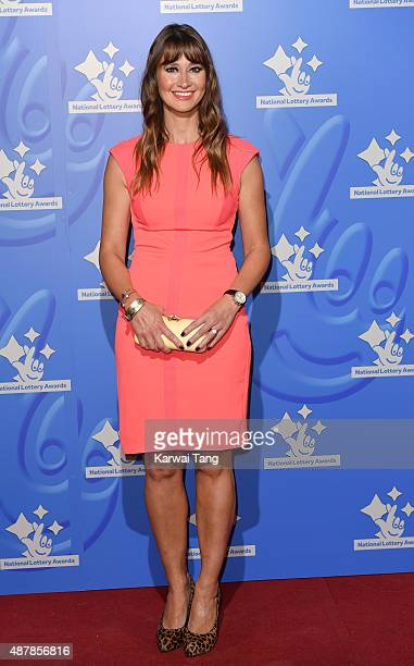 Ellie Crisell attends the National Lottery Awards at The London Television Centre on September 11 2015 in London England
