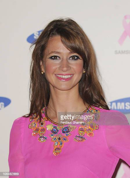 Ellie Crisell attends The Samsung Pink Ribbon Celebration which raises funds and awareness of breast cancer at The Royal Exchange on October 14 2010...