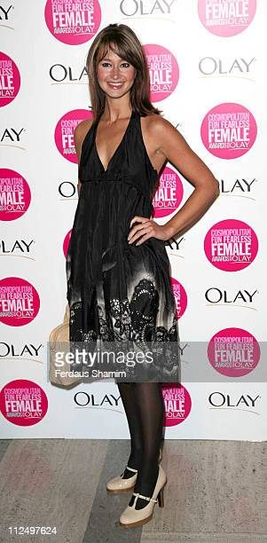 Ellie Crisell during Cosmopolitan Fun Fearless Female Awards with Olay Red Carpet at Bloomsbury Ballroom in London Great Britain