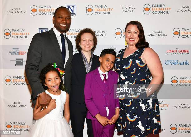 Ellie Ford JR Ford Dana Rudolph Ronnie Ford and Vanessa Ford attend Family Equality Council's Night at the Pier at Pier 60 on May 7 2018 in New York...