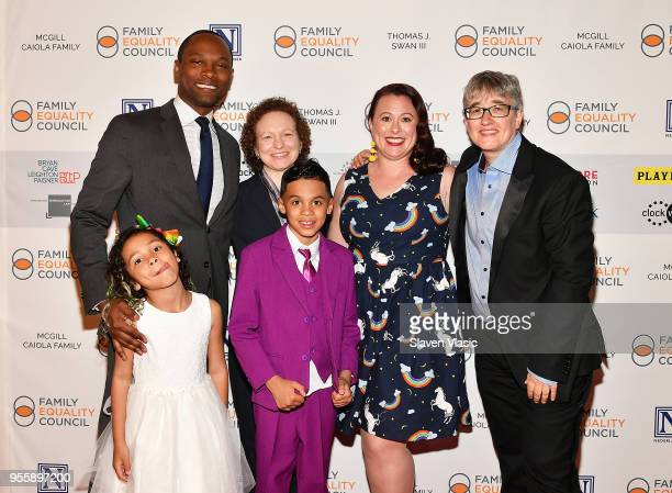 Ellie Ford JR Ford Dana Rudolph Ronnie Ford Vanessa Ford and Cathy Renna attend Family Equality Council's Night at the Pier at Pier 60 on May 7 2018...