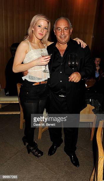 Ellie Golding and Sir Philip Green attend the launch party for the opening of TopShop's Knightsbridge store on May 19, 2010 in London, England.