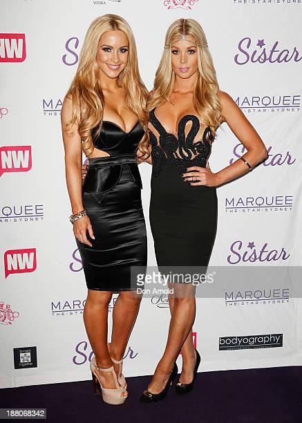 Ellie Gonzalez and Sheridyn Fisher appear at Marquee Nightclub on November 15, 2013 in Sydney, Australia.