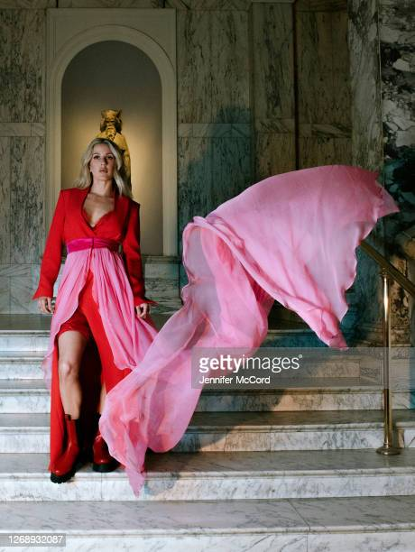 Ellie Goulding ahead of her performance at The V&A on August 26, 2020 in London, England. The performance was live streamed for ticket holders during...