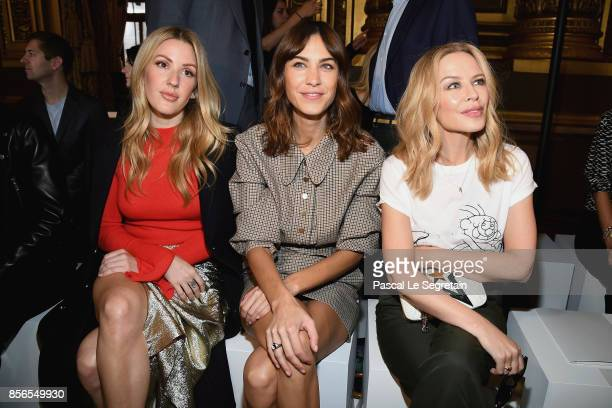 Ellie Goulding Alexa Chung and Kylie Minogue attend the Stella McCartney show as part of the Paris Fashion Week Womenswear Spring/Summer 2018 on...