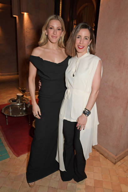 Ellie Goulding and Ana Aznar Botella attend The ABB FIA Formula E Championship prerace dinner ahead of the Marrakesh EPrix on February 28 2020 in...