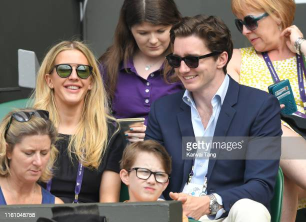 Ellie Goulding and Caspar Jopling attend day eight of the Wimbledon Tennis Championships at All England Lawn Tennis and Croquet Club on July 09, 2019...