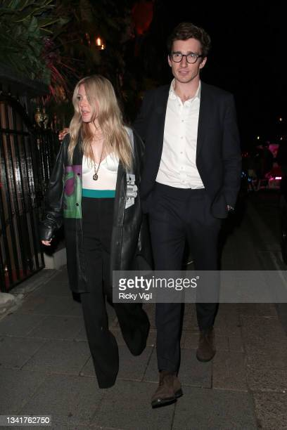Ellie Goulding and Caspar Jopling seen attending the BFC Changemakers Prize in partnership with Swarovski at Annabel's during London Fashion Week...
