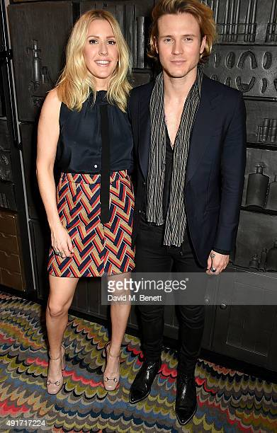 Ellie Goulding and Dougie Poynter attend the Special K Bring Colour Back launch at The Hospital Club on October 7 2015 in London England
