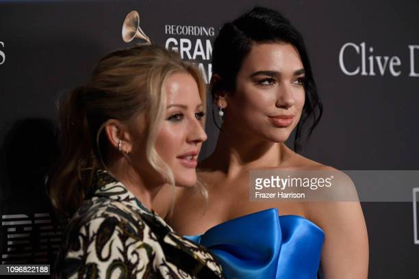 Ellie Goulding and Dua Lipa attend the Pre-GRAMMY Gala and GRAMMY Salute to Industry Icons Honoring Clarence Avant at The Beverly Hilton Hotel on...
