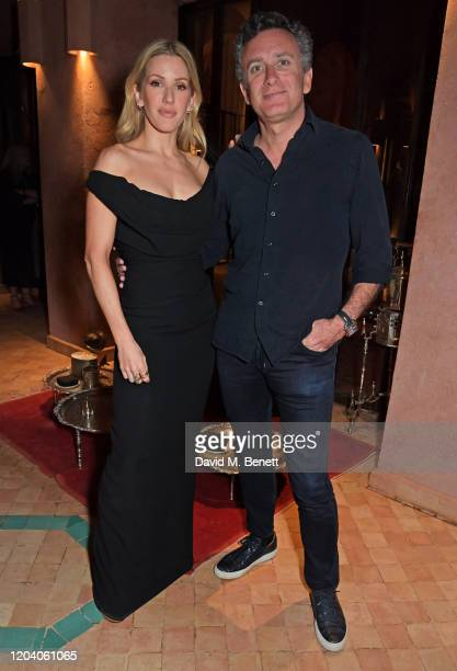 Ellie Goulding and Formula E Chairman Alejandro Agag attend The ABB FIA Formula E Championship prerace dinner ahead of the Marrakesh EPrix on...