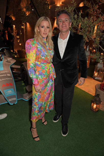 Ellie Goulding and Formula E Chairman Alejandro Agag attend The ABB FIA Formula E Mad Hatters Moroccan Tea Party in celebration of the 2020 Marrakesh...