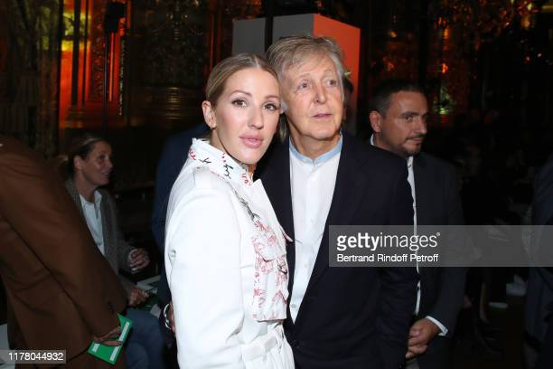 Ellie Goulding and Paul McCartney attend the Stella McCartney Womenswear Spring/Summer 2020 show as part of Paris Fashion Week on September 30 2019...