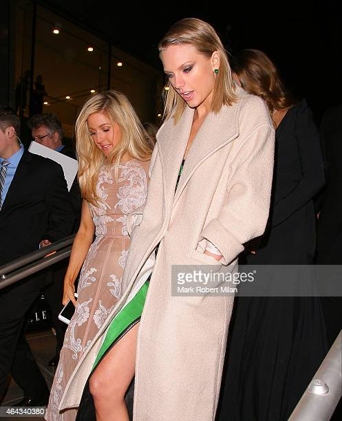 Ellie Goulding and Taylor Swift attending the Elle Style Awards on February 24, 2015 in London, England.