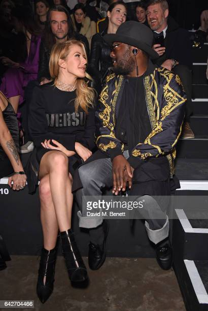 Ellie Goulding and william attend the VERSUS show during the London Fashion Week February 2017 collections on February 18 2017 in London England