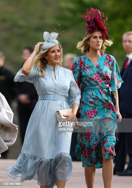 Ellie Goulding arrive ahead of the wedding of Princess Eugenie of York to Jack Brooksbank at Windsor Castle on October 12 2018 in Windsor England
