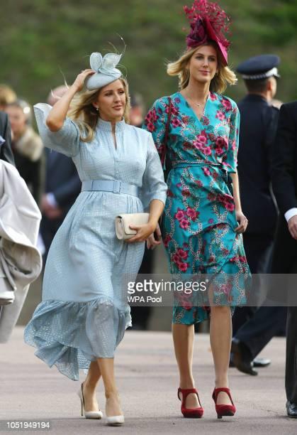 Ellie Goulding arrives for the wedding of Princess Eugenie of York to Jack Brooksbank at St George's Chapel on October 12 2018 in Windsor England
