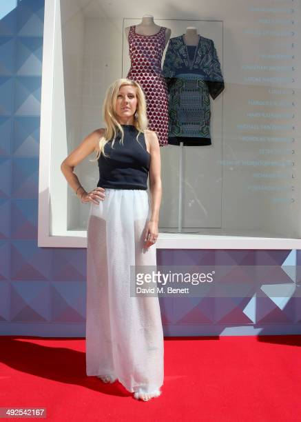Ellie Goulding at the British Designer's Collective at Bicester Village on May 21 2014 in Bicester England