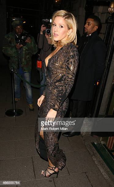 Ellie Goulding attending a party Annabel's club to mark the opening of Balmain's first London store on March 16 2015 in London England