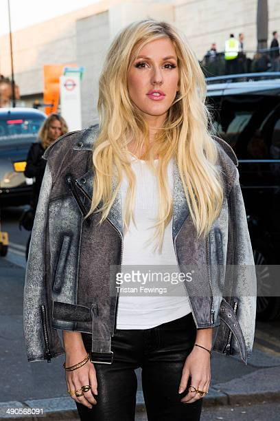 Ellie Goulding attends a photocall to launch the David Beckham for HM Swimwear collection on May 14 2014 in London England