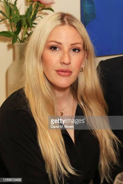 """Ellie Goulding attends a private view, dinner and auction of multi-disciplinary artist Lily Lewis' new collection """"Safe Places"""" in partnership with..."""