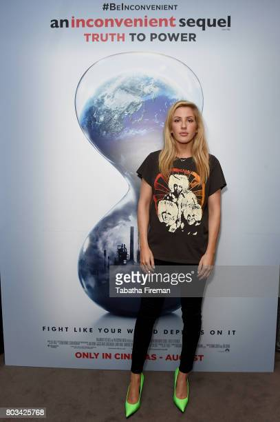 Ellie Goulding attends a special private screening of An Inconvenient Sequel Truth to Power with Ellie Goulding at Bulgari Hotel on June 22 2017 in...