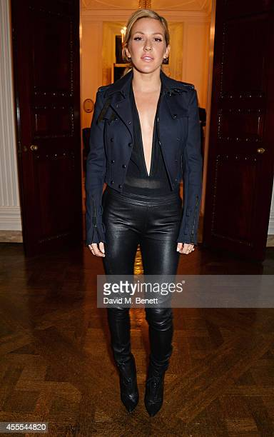 Ellie Goulding attends as Ambassador Barzun Mrs Brooke Barzun and Alexandra Shulman celebrate London Fashion Week at Winfield House in association...