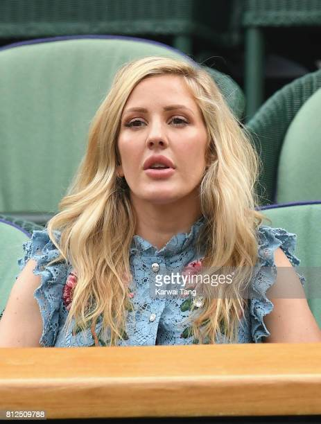 Ellie Goulding attends day eight of the Wimbledon Tennis Championships at the All England Lawn Tennis and Croquet Club on July 11 2017 in London...