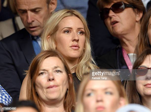 Ellie Goulding attends day nine of the Wimbledon Tennis Championships at Wimbledon on July 8 2015 in London England