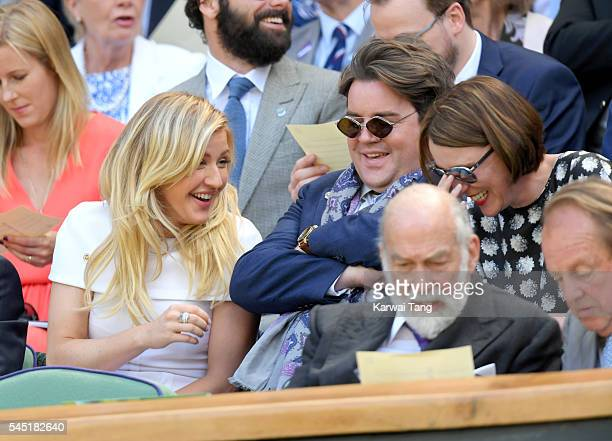 Ellie Goulding attends day nine of the Wimbledon Tennis Championships at Wimbledon on July 06, 2016 in London, England.