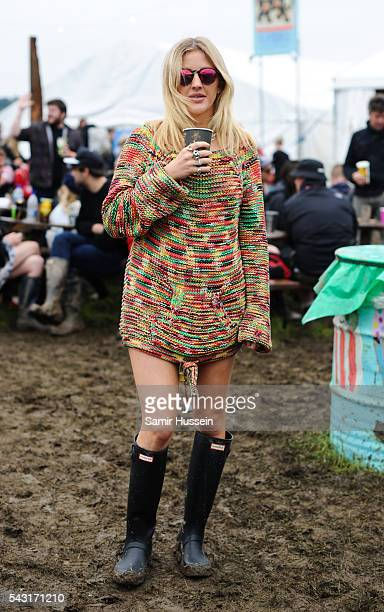 Ellie Goulding attends Glastonbury Festival 2016 at Worthy Farm Pilton on June 25 2016 in Glastonbury England