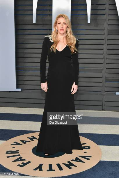 Ellie Goulding attends the 2018 Vanity Fair Oscar Party hosted by Radhika Jones at Wallis Annenberg Center for the Performing Arts on March 4 2018 in...