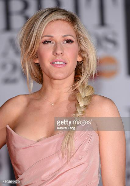 Ellie Goulding attends The BRIT Awards 2014 at 02 Arena on February 19 2014 in London England