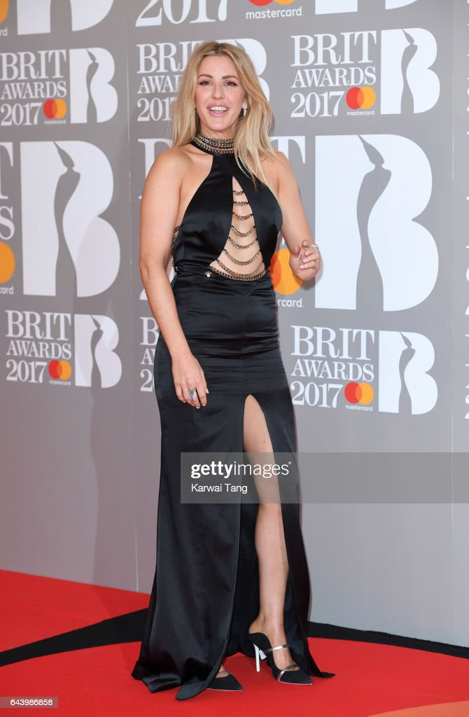 ONLY. Ellie Goulding attends The BRIT Awards 2017 at The O2 Arena on February 22, 2017 in London, England.