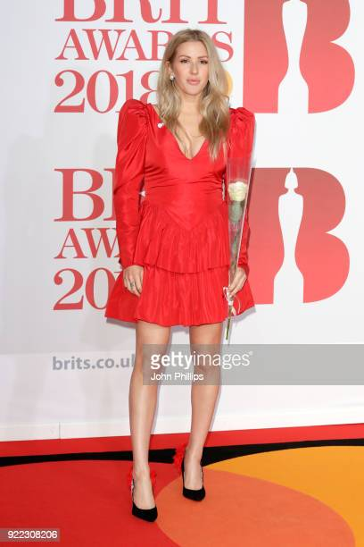 AWARDS 2018*** Ellie Goulding attends The BRIT Awards 2018 held at The O2 Arena on February 21 2018 in London England
